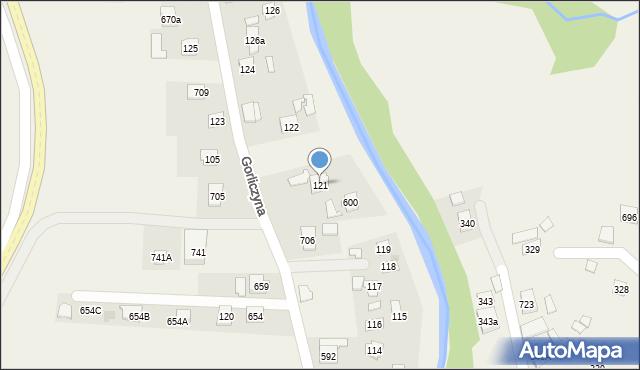 Gorliczyna, Gorliczyna, 121, mapa Gorliczyna