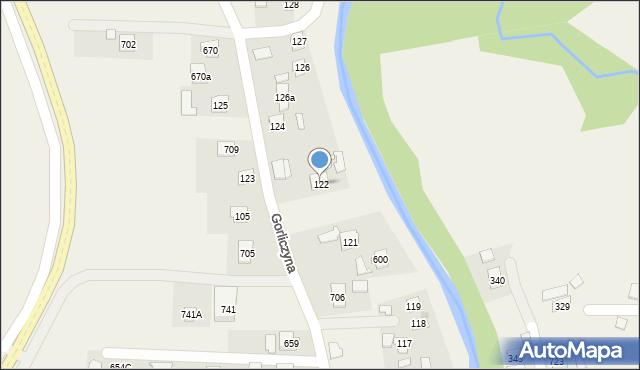 Gorliczyna, Gorliczyna, 122, mapa Gorliczyna
