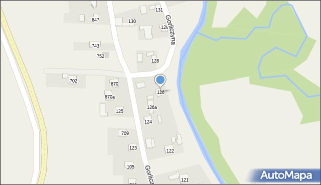 Gorliczyna, Gorliczyna, 126, mapa Gorliczyna