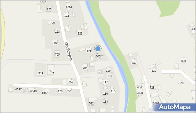 Gorliczyna, Gorliczyna, 600, mapa Gorliczyna