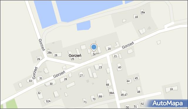 Gorzeń, Gorzeń, 24, mapa Gorzeń