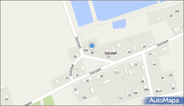 Gorzeń, Gorzeń, 26, mapa Gorzeń