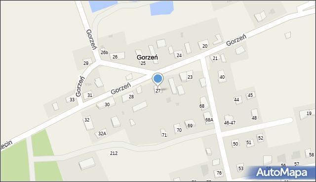 Gorzeń, Gorzeń, 27, mapa Gorzeń