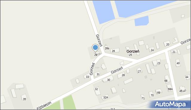 Gorzeń, Gorzeń, 29, mapa Gorzeń