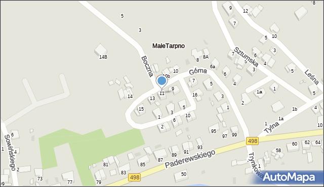 Grudziądz, Górna, 11, mapa Grudziądza