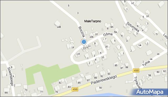 Grudziądz, Górna, 13, mapa Grudziądza