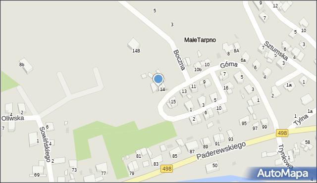 Grudziądz, Górna, 14a, mapa Grudziądza