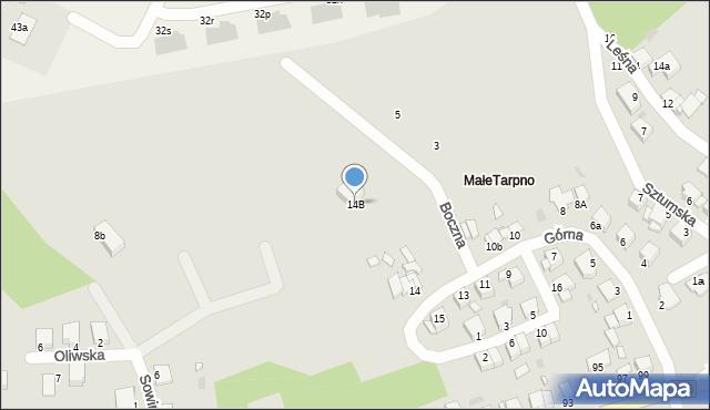 Grudziądz, Górna, 14B, mapa Grudziądza