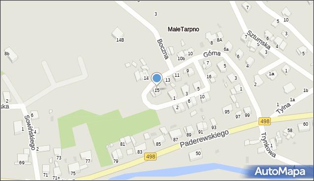 Grudziądz, Górna, 15, mapa Grudziądza