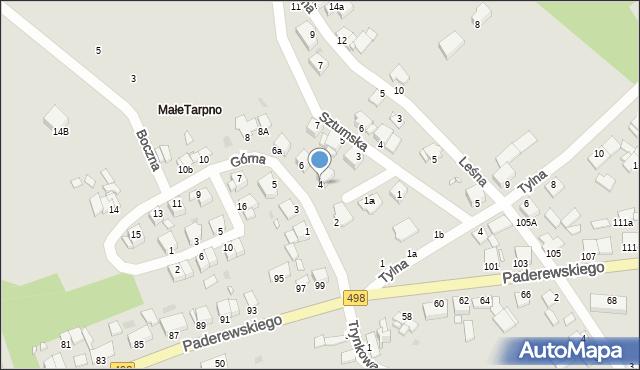 Grudziądz, Górna, 4, mapa Grudziądza
