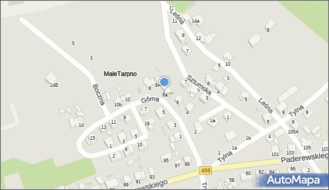 Grudziądz, Górna, 6a, mapa Grudziądza