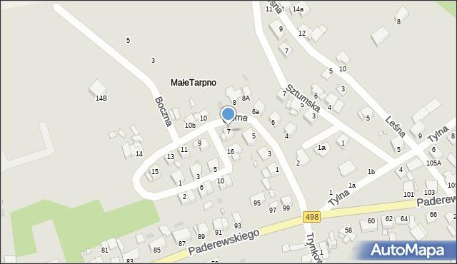 Grudziądz, Górna, 7, mapa Grudziądza