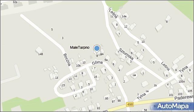 Grudziądz, Górna, 8, mapa Grudziądza
