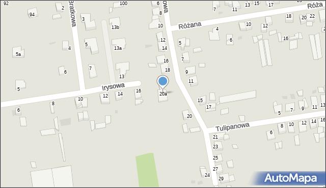 Grudziądz, Goździkowa, 20a, mapa Grudziądza