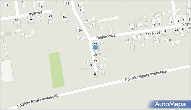 Grudziądz, Goździkowa, 25, mapa Grudziądza