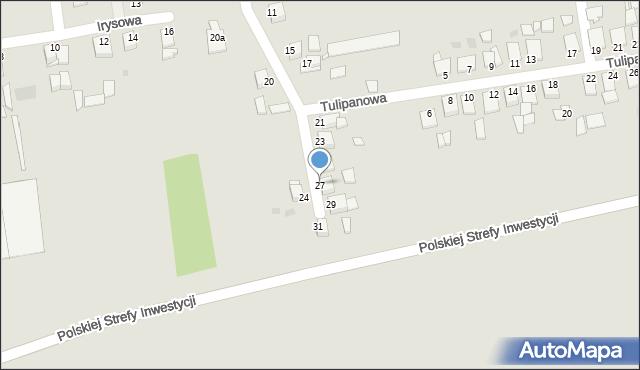 Grudziądz, Goździkowa, 27, mapa Grudziądza