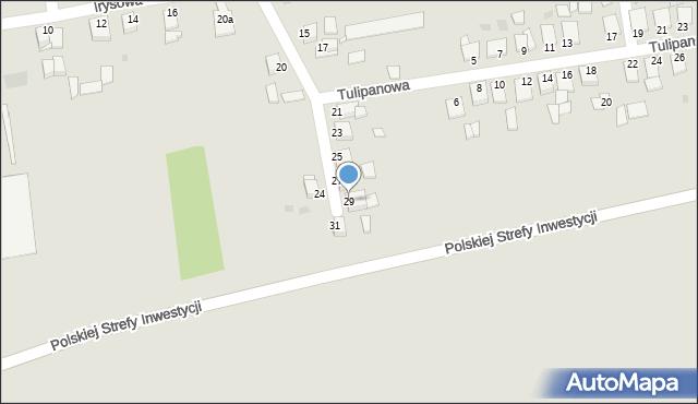 Grudziądz, Goździkowa, 29, mapa Grudziądza