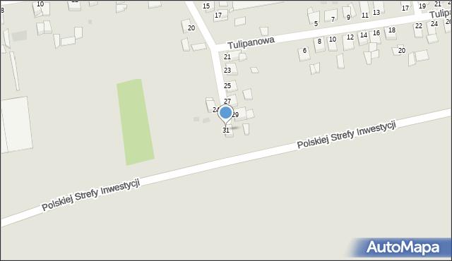 Grudziądz, Goździkowa, 31, mapa Grudziądza