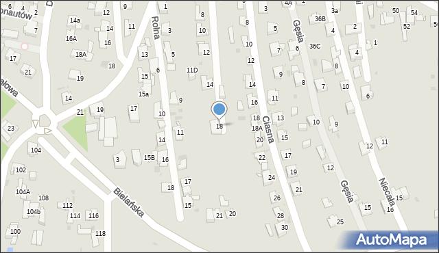 Jaworzno, Gołębia, 18, mapa Jaworzno