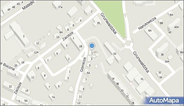 Jaworzno, Górnicza, 1, mapa Jaworzno