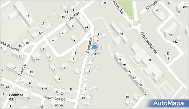 Jaworzno, Górnicza, 5A, mapa Jaworzno