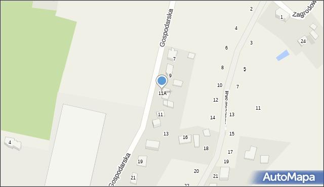 Kębłowo, Gospodarska, 11A, mapa Kębłowo
