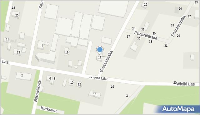 Kębłowo, Gospodarska, 18, mapa Kębłowo