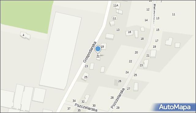 Kębłowo, Gospodarska, 21, mapa Kębłowo