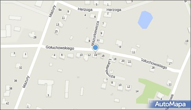 Lubaczów, Gołuchowskiego Agenora, 14, mapa Lubaczów