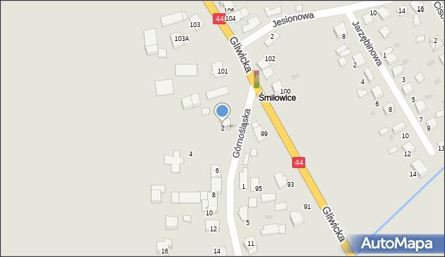Mikołów, Górnośląska, 2, mapa Mikołów