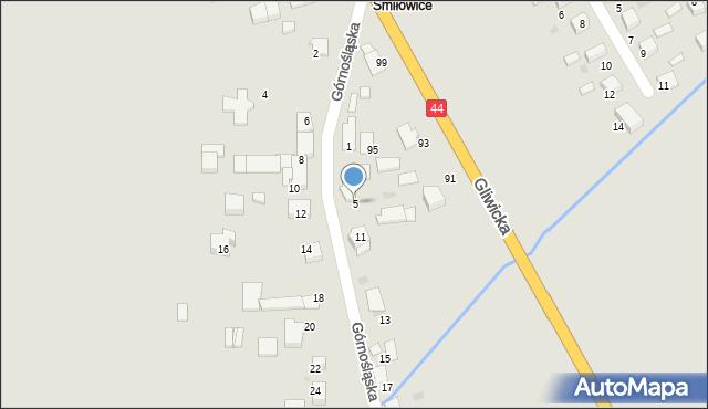 Mikołów, Górnośląska, 5, mapa Mikołów