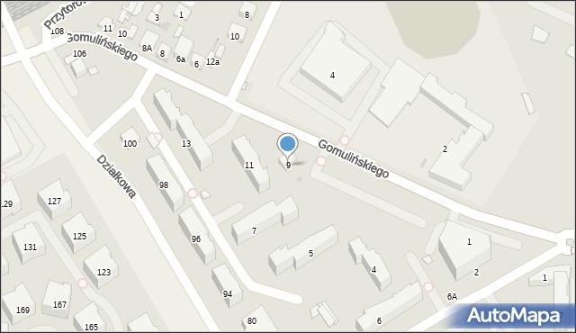 Pruszków, Gomulińskiego Juliana, 9, mapa Pruszków