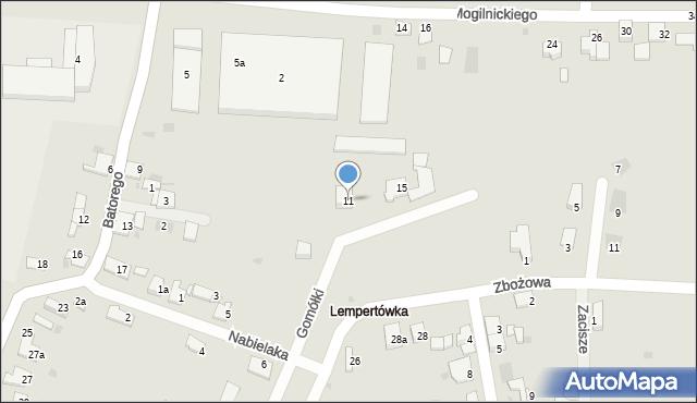 Przemyśl, Gomółki Mikołaja, 11, mapa Przemyśla