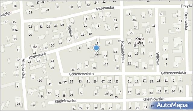 Radom, Goszczewicka, 16, mapa Radomia