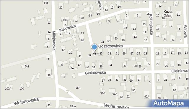 Radom, Goszczewicka, 37, mapa Radomia