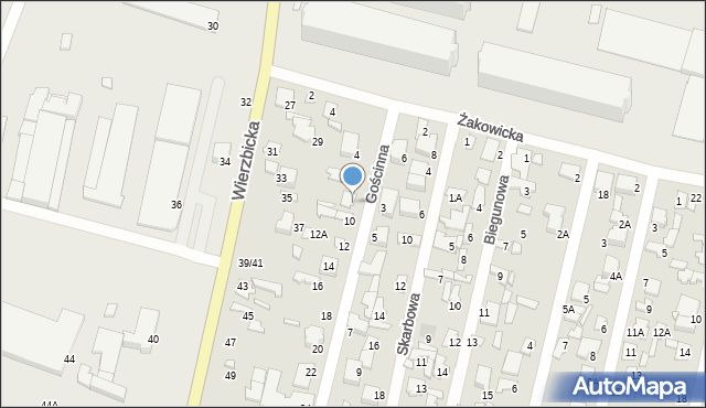 Radom, Gościnna, 8, mapa Radomia