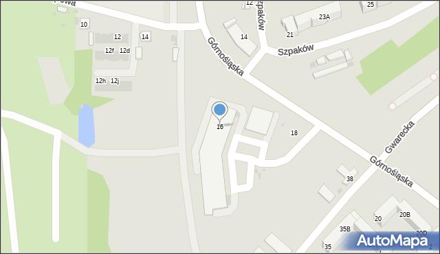 Ruda Śląska, Górnośląska, 16, mapa Rudy Śląskiej