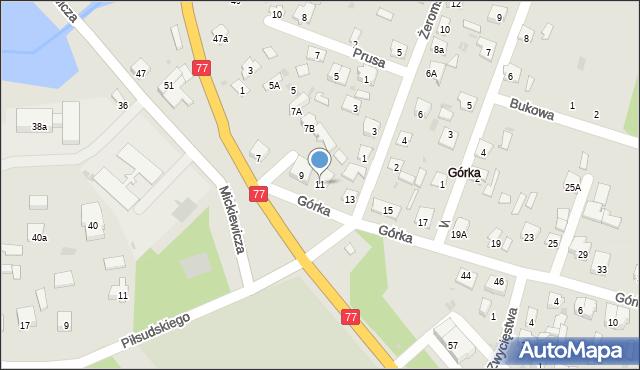 Rudnik nad Sanem, Górka, 11, mapa Rudnik nad Sanem