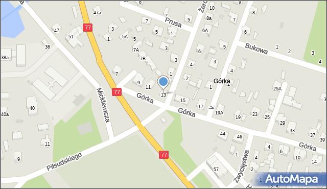 Rudnik nad Sanem, Górka, 13, mapa Rudnik nad Sanem