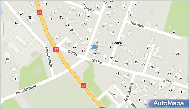 Rudnik nad Sanem, Górka, 15, mapa Rudnik nad Sanem