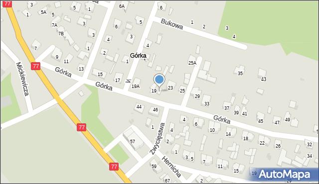 Rudnik nad Sanem, Górka, 21, mapa Rudnik nad Sanem