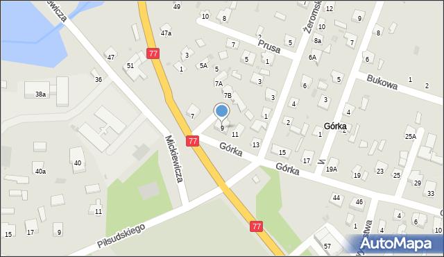 Rudnik nad Sanem, Górka, 9, mapa Rudnik nad Sanem