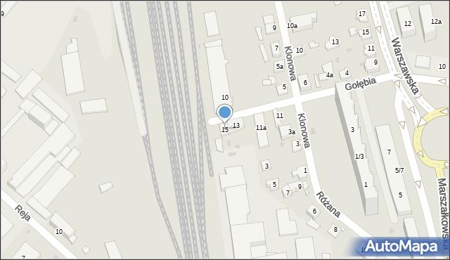 Rzeszów, Gołębia, 15, mapa Rzeszów