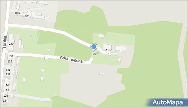 Świętochłowice, Góra Hugona, 1A, mapa Świętochłowice