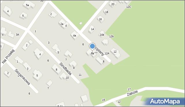 Toruń, Goplany, 6a, mapa Torunia