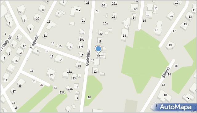 Toruń, Gościnna, 16, mapa Torunia