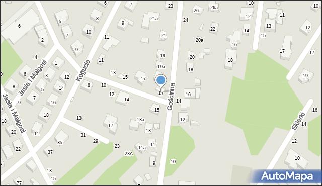 Toruń, Gościnna, 17, mapa Torunia
