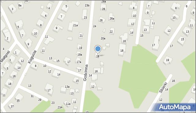Toruń, Gościnna, 18A, mapa Torunia