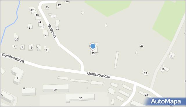 Ustrzyki Dolne, Gombrowicza Witolda, 40, mapa Ustrzyki Dolne