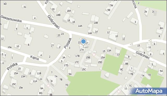 Warszawa, Gościniec, 19, mapa Warszawy